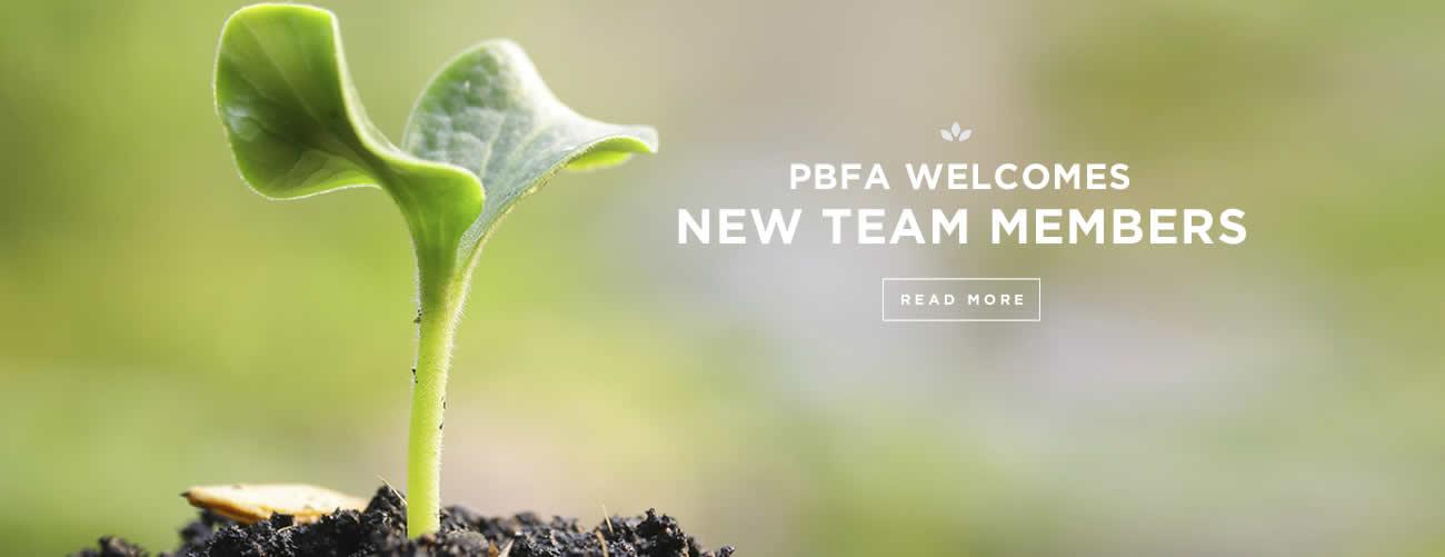 PBFA Welcomes New Team Members