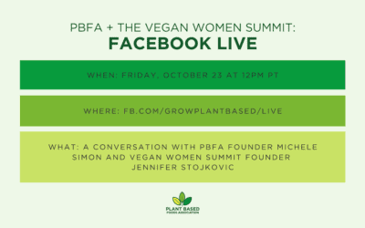 PBFA + The Vegan Women Summit Facebook Live