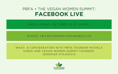 PBFA + The Vegan Women Summit Facebook Live