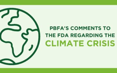 PBFA Comments to the FDA Regarding the Climate Crisis