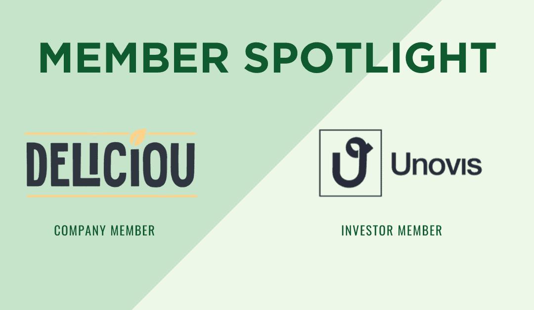 Monthly Member +Investor Highlights: Deliciou + Unovis Asset Management