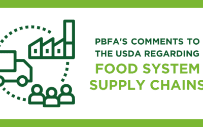 PBFA Comments to the USDA Regarding Food System Supply Chains